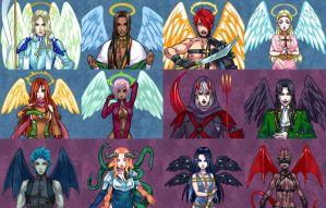 Angels and Demons of Illithia by sage666