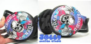 Avenged Sevenfold headphone by PoppinCustomArt