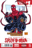 Superior Spiderman sketch cover by mdavidct