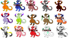 Charlater adoptable SALE TODAY by FluffyFlareon