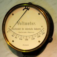 Voltmeter by vw1956stock