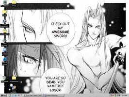 Sephiroth Vs Vincent by LadyFan