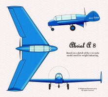 Abrial A.8 = Caudron A.260  (real 1930 project) by Bispro