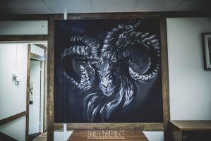 Wall painting. Tattoo Studio - Salem_1 by EGOR-DOG