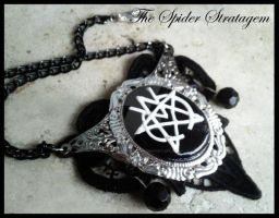 Gothic victorian necklace 'The March Violets' by TheSpiderStratagem