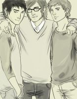 Al, James and Hugo by myepicfail