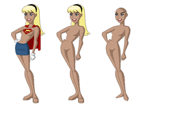 DCAU - Supergirl Base by juanito316ss