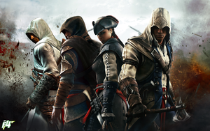 Altair-Ezio-Aveline-Connor by ArteF4ct