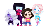 mini chibi ~ Steven Universe + Crystal Gems by CthulhuFruitLoops
