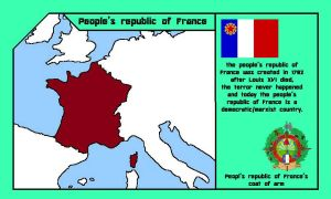 people's republic of France ( countries mapping)  by DimLordofFox