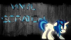 Futuristic grunge - Vinyl Scratch wallpaper by Chaz1029