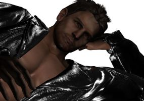 Chris Redfield in Leather Wall paper by PWheroCR