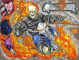 Ghost Rider sketch cover commission by mdavidct