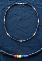 Rainbow Wooden Bead Necklace by RebelATS