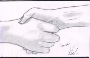 Hand study 3 - Friendship by ALol