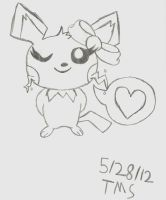 Cute Pichu Thingy... by Rosethethief