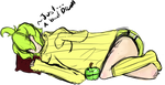 GreenAppleSleeping by GalaxyCrowButt
