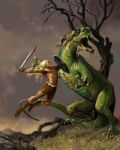Siegfried and Fafner 1 by Hagge