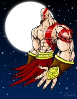Kratos colored by CoopahCraft