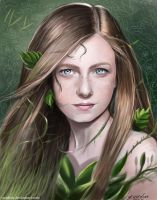 ClareFoley 'PoisonIvy from Gotham Series 'painting by vurdeM