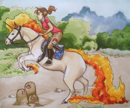 RAPIDASH by KittyNamedAlly