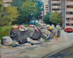 City garbage 2 (In the summer) by PetraLAAI