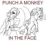 PUNCH A MONKEY IN THE FACE by Eric-Abillama