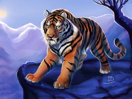 Saber-Tooth Tiger by TigresaDaina