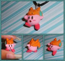 Super Smash Bros - Kirby with Charizard Hat Charm by YellerCrakka