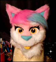 first fursuit head (almost) finsihed by stormfurs