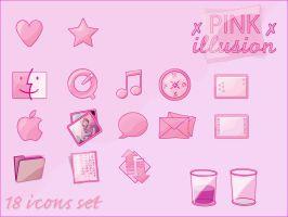 : Pink Illusion - WINDOWS XP : by gwicons