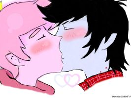 Prince gumball x Marshall lee by Lululoid