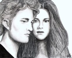 Rob Pattinson+ Kristen Stewart by hmcadams1023