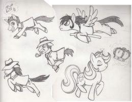 Pony Lupin Cast Sketch by Whimsy-Floof