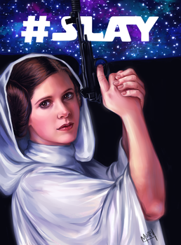 Slayer Leia by MurphAinmire