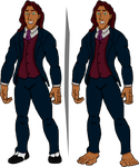 Adult Tarzan in his father's suit (transparent bg) by PoKeMoN-Traceur