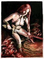 Red Sonja the Demon Slayer - For sale by dimitriskoskinas