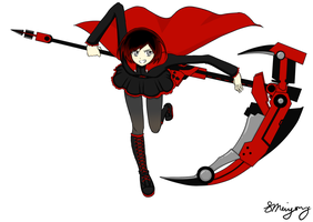 Ruby Rose from RWBY by MsVioletMagpie