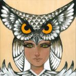 Owl girl by VietNguyen