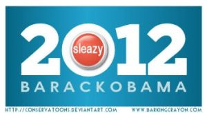 Sleazy Button President by Conservatoons