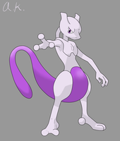 Request - Mewtwo by AncientKyuubi