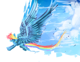 MLP : Paint the skies + speedpaint by AquaGalaxy