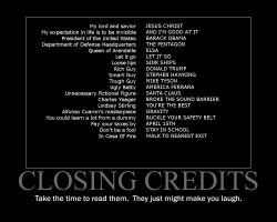 Closing Credits Motivational Poster by QuantumInnovator