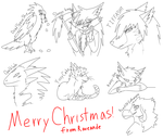 Christmas Doodle Gifts by Raveande