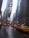 Times Square under the rain by Hysteriiia