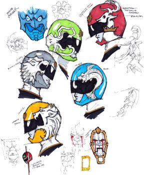 Game of Thrones styled Goseiger Helmets by Neumatic