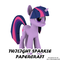 Twilight Sparkle papercraft by darth-biomech