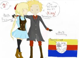 APH Denmark and North Frisia talking by Meloni-chan