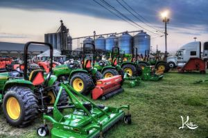 Tractors at the fair by AbstractedRealism