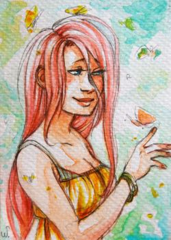 Fluttershy [ACEO] by Schpog